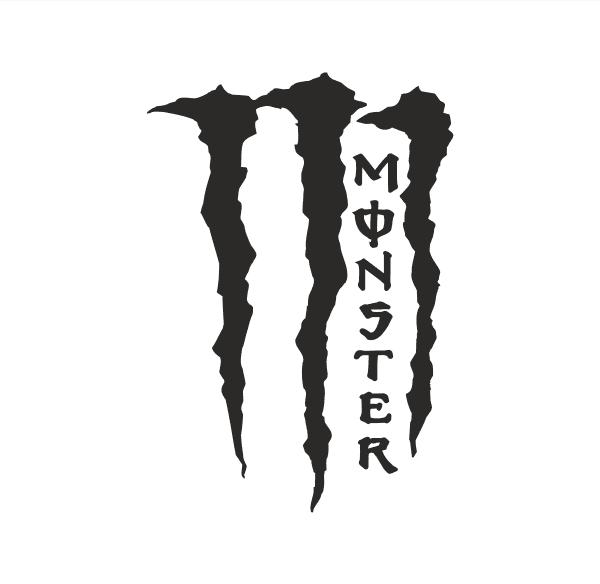 Monster Kralle Aufkleber