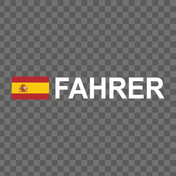 Rally-Flagge Spanien Aufkleber