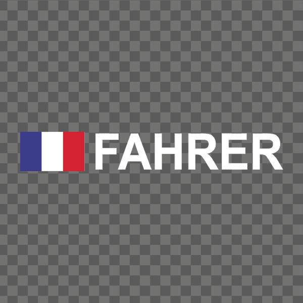 Rally-Flagge Frankreich Aufkleber