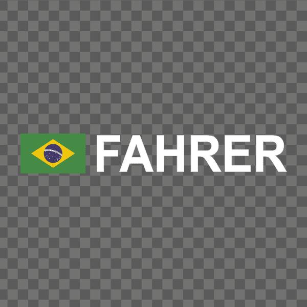 Rally-Flagge Brasilien Aufkleber