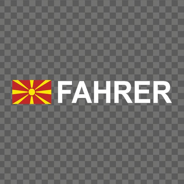 Rally-Flagge Mazedonien Aufkleber