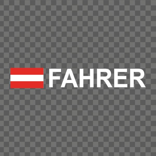 Rally-Flagge Österreich Aufkleber
