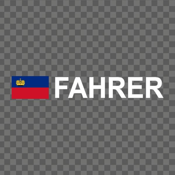Rally-Flagge Liechtenstein Aufkleber