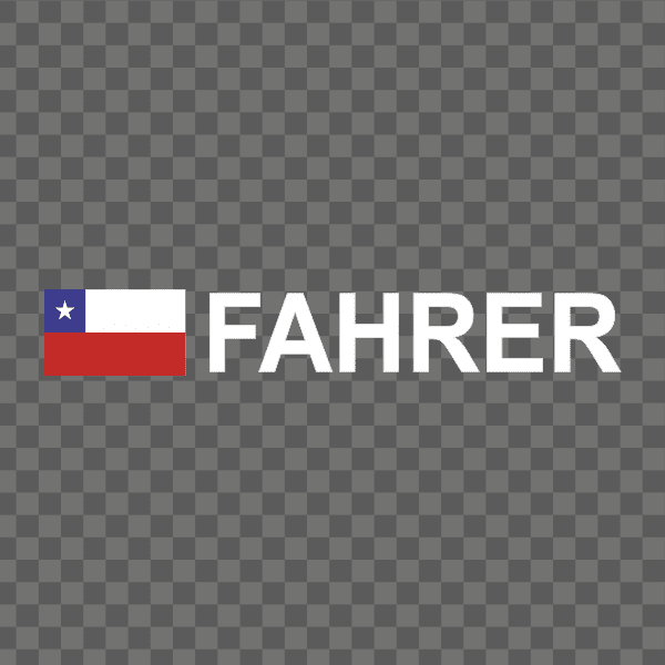 Rally-Flagge Chile Aufkleber