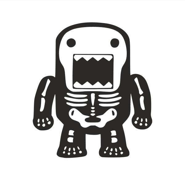 JDM Domo Skelett Aufkleber
