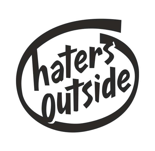 HATERS OUTSIDE Aufkleber