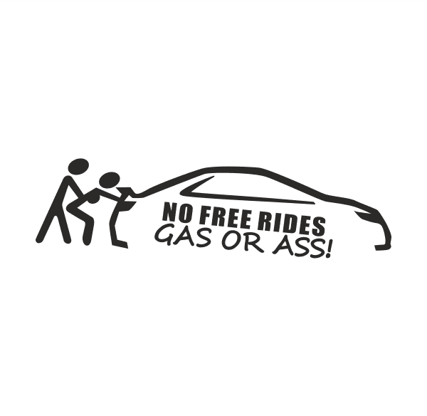 No free Rides Aufkleber