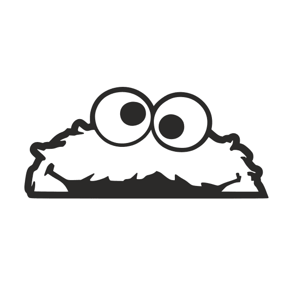 Cookie Monster Aufkleber