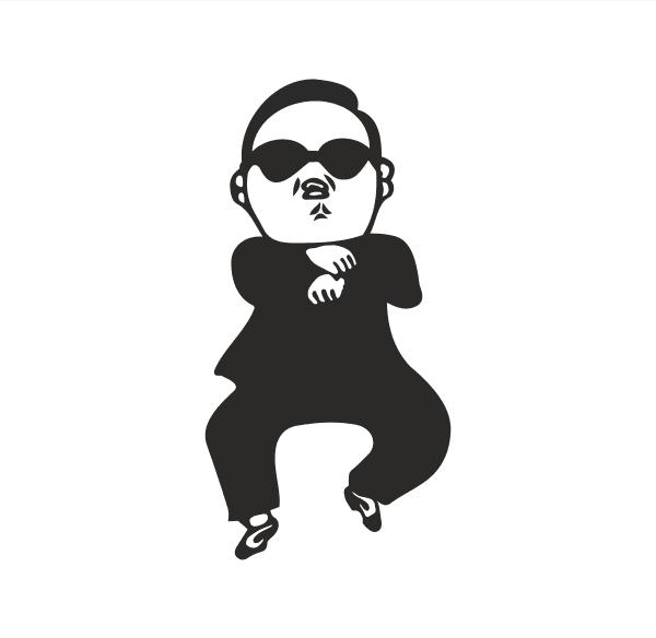 Gangnam Style Aufkleber