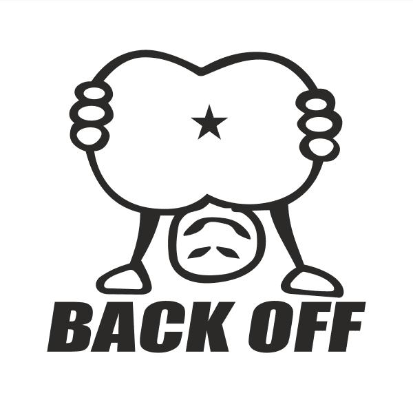 Back off Aufkleber