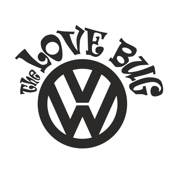 VW THE LOVE BUG Aufkleber
