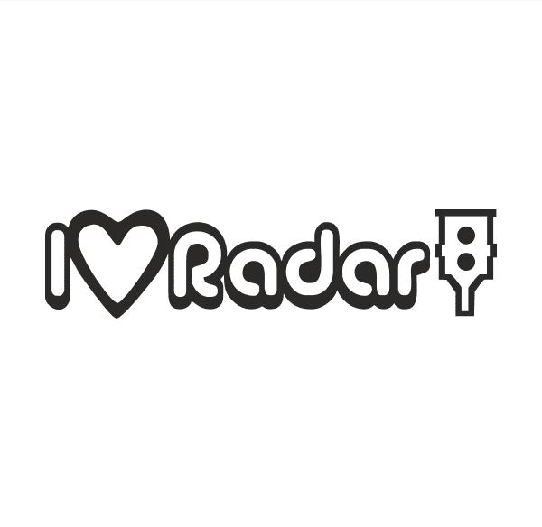 I Love Radar Aufkleber