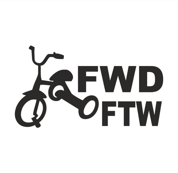 JDM FWD FTW Aufkleber