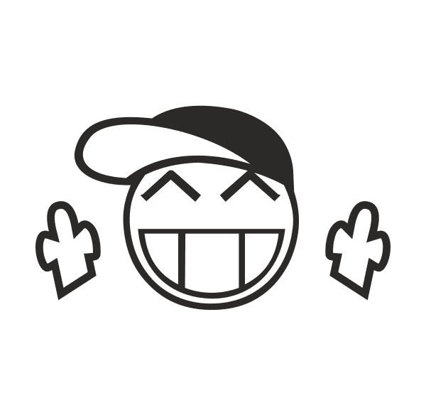 JDM Smile Aufkleber