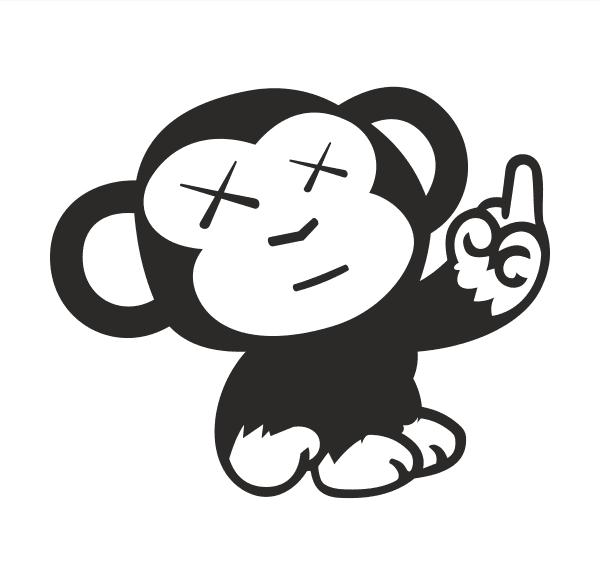 JDM Monkey Aufkleber