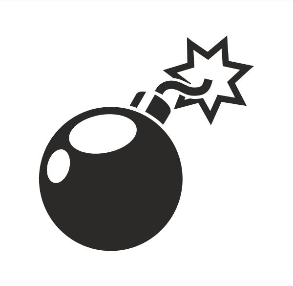 Bomb Aufkleber