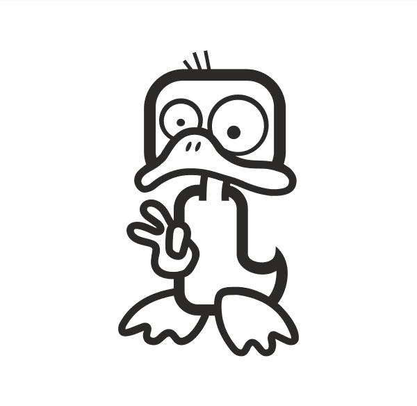 Duck Aufkleber