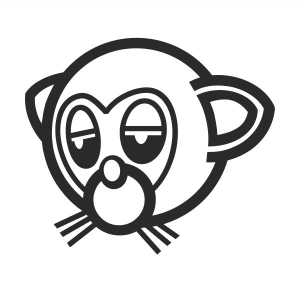 Monkey Aufkleber