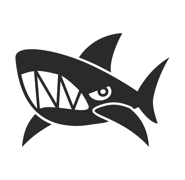 Shark Aufkleber