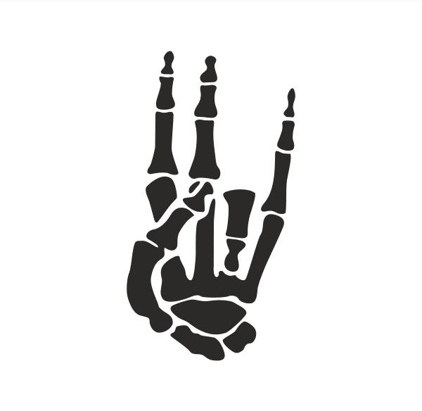 Shocker Hand Aufkleber