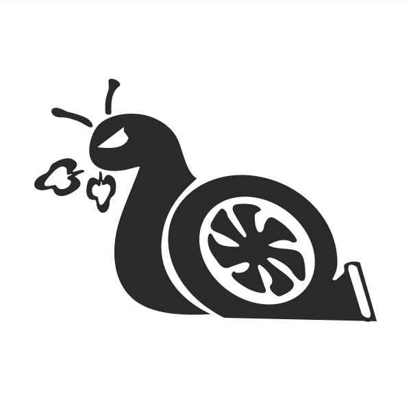 Turboschnecke Aufkleber