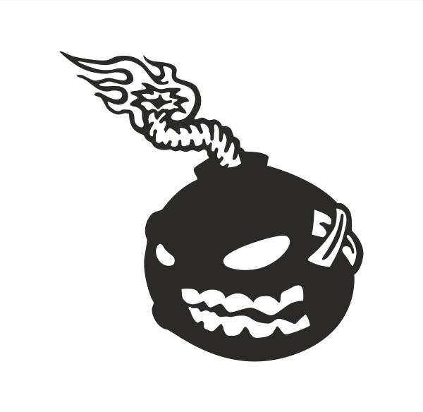 Evil bomb Aufkleber