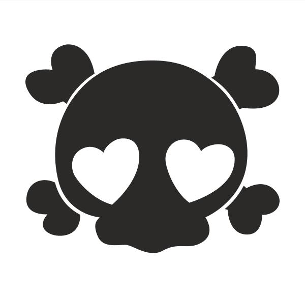 Funny skull Aufkleber