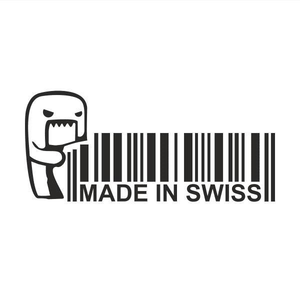 Made in Swiss Aufkleber