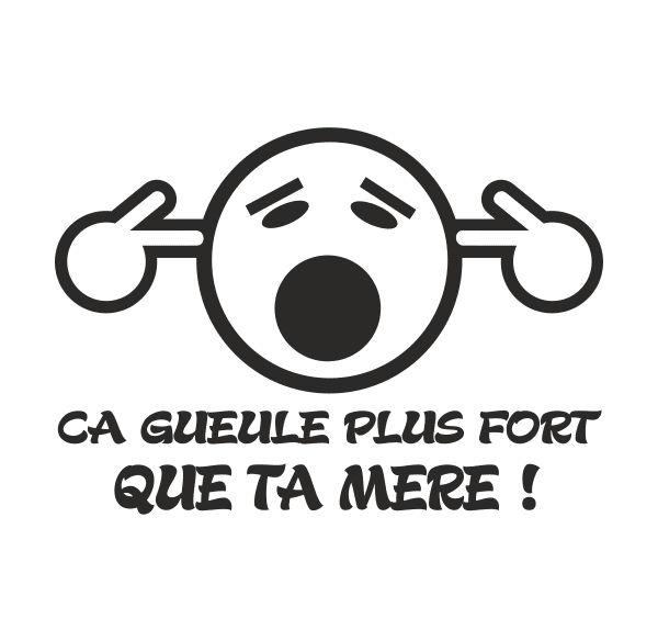 Loud French Aufkleber