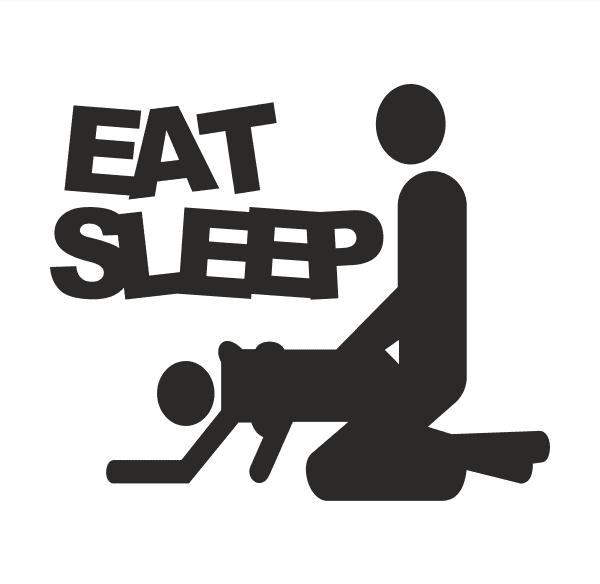 eat sleep Aufkleber
