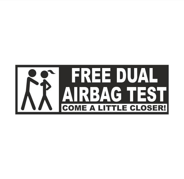 Airbag test Aufkleber