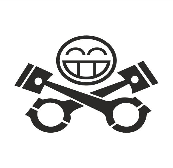 Piston smile Aufkleber