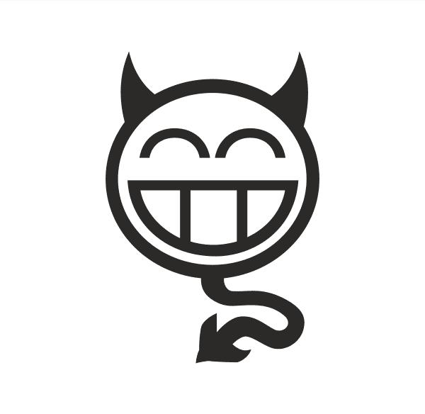 Devil smile Aufkleber