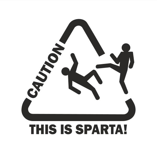 This is sparta Aufkleber