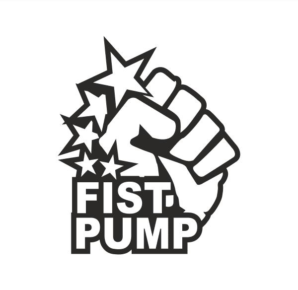 Fist Pump Aufkleber