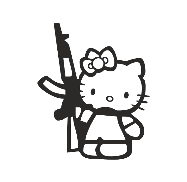 Military Kitty Aufkleber