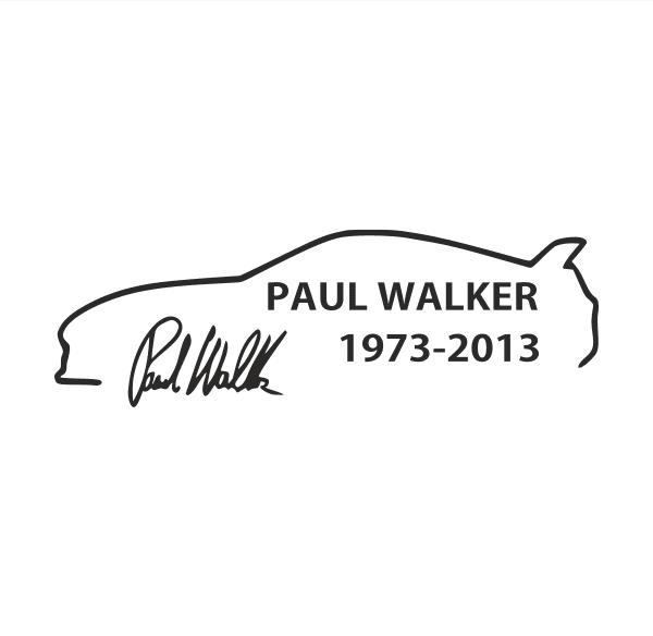 Paul Walker Aufkleber