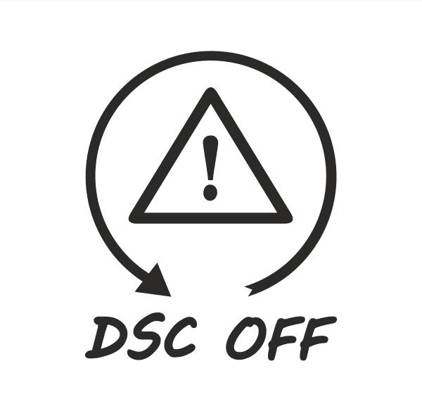 DSC OFF Aufkleber