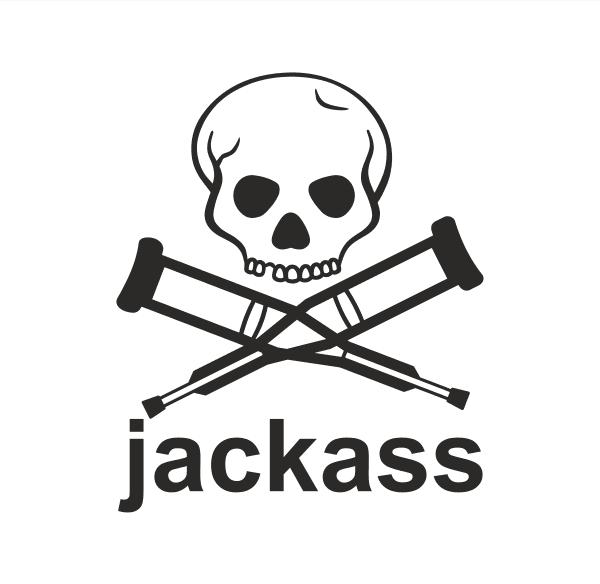 Jackass Aufkleber