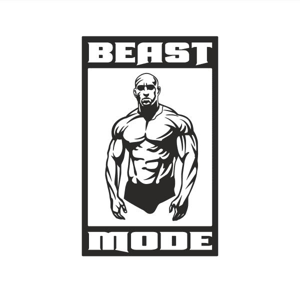 Beast Mode Aufkleber