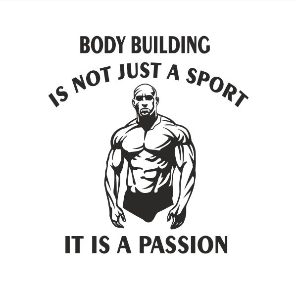 Body Building Aufkleber