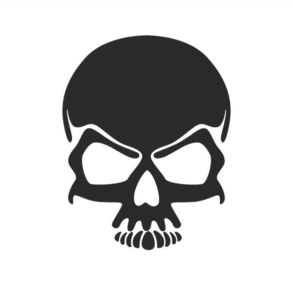 Cool Skull Aufkleber