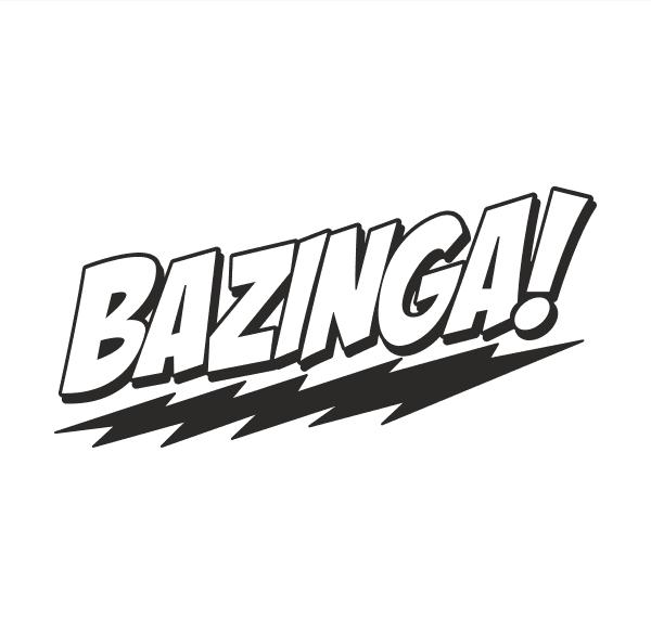 Bazinga Aufkleber