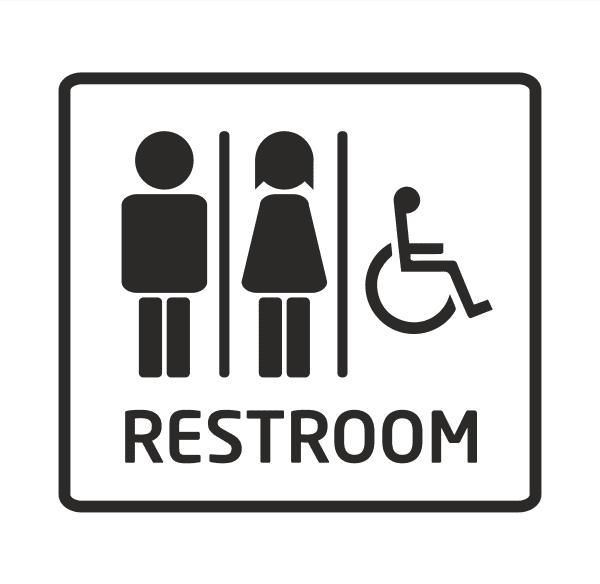 WC Aufkleber