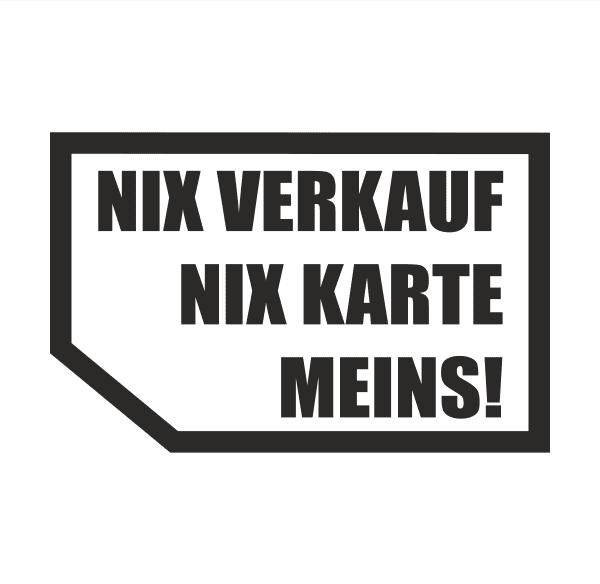 Nix Verkauf Meins! Aufkleber