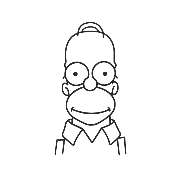 Homer Aufkleber