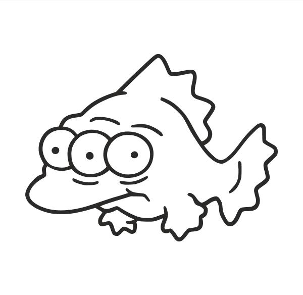 Radioaktiver Fisch Aufkleber
