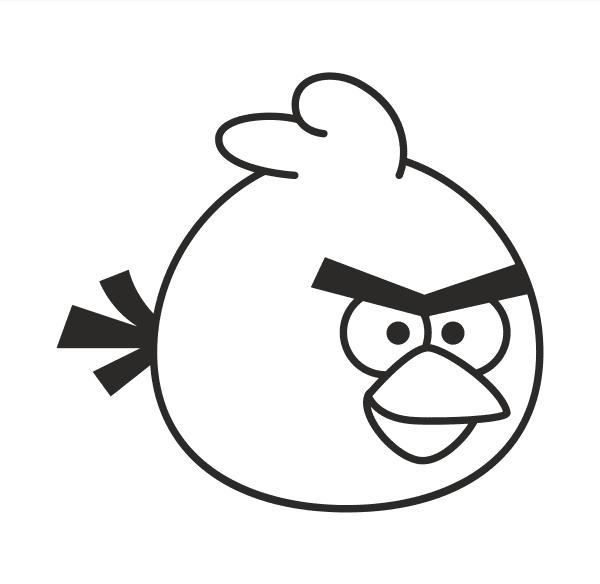 Angry Birds Aufkleber