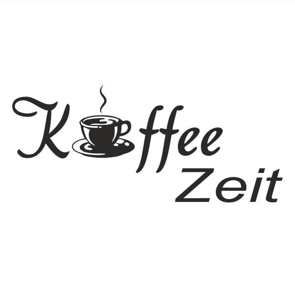 Kaffe Zeit Aufkleber