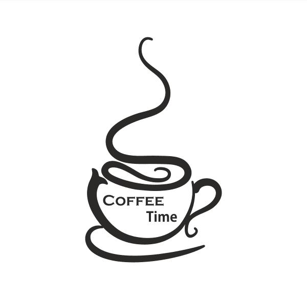 Coffe Time Aufkleber